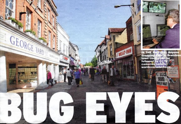 Bug Eyes - Braintree and Witham Times front page image