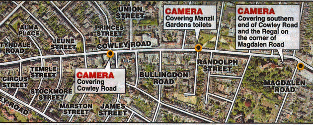 cowley road camera locations